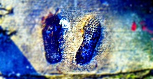 footprints blurred